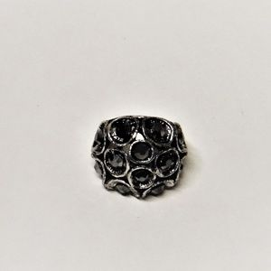 Charcoal Mushroom Cap Fashion Ring